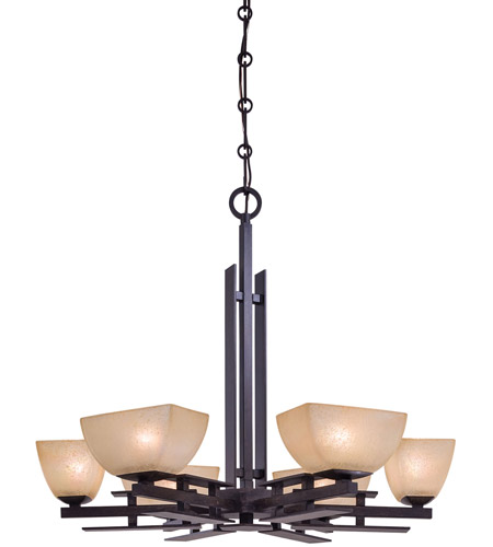 Minka-Lavery 1276-357 Lineage 6 Light 29 inch Iron Oxide Chandelier Ceiling Light photo