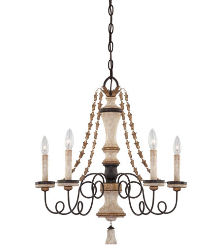 Minka-Lavery Jessica McClintock Accents Provence 5 Light Chandelier in Provence Patina 1295-580 photo