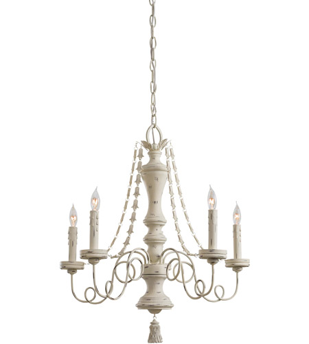 Minka-Lavery Jessica McClintock Accents Provence 5 Light Chandelier in Provencal Blanc 1295-648 photo
