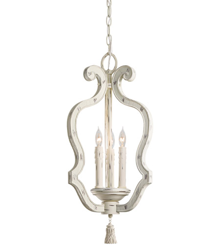Minka-Lavery 1296-648 Jessica McClintock Accents Provence 3 Light 12 inch Provencal Blanc Pendant Ceiling Light photo