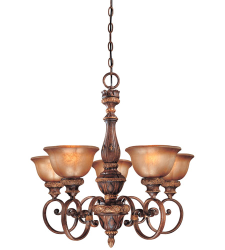 Minka-Lavery Hearst Castle Illuminati 5 Light Chandelier in Illuminati Bronze 1355-177 photo