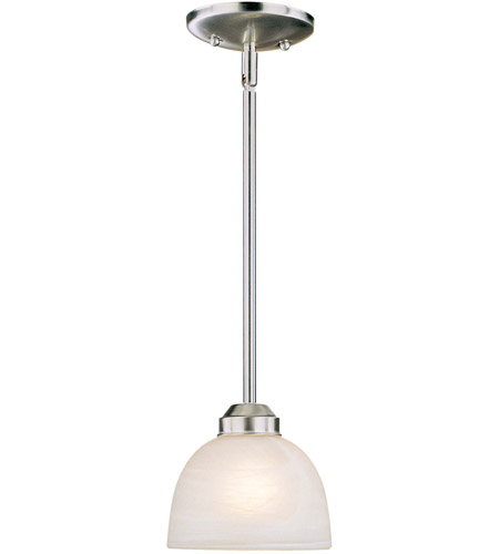 Minka-Lavery 1421-84-PL Paradox 1 Light 7 inch Brushed Nickel Mini Pendant Ceiling Light in GU24 photo