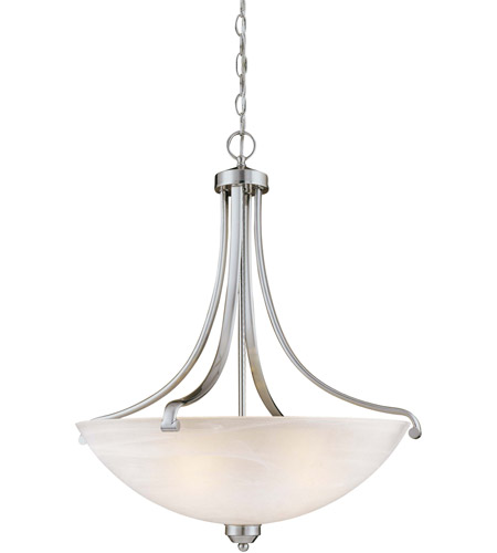 Minka-Lavery 1422-84 Paradox 4 Light 25 inch Brushed Nickel Pendant Ceiling Light photo