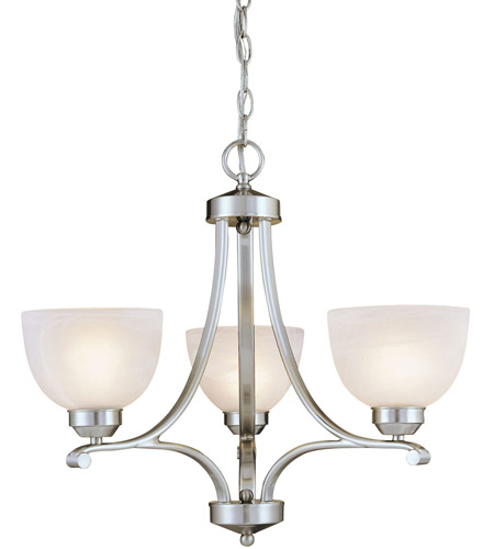 Minka-Lavery Paradox 3 Light Mini Chandelier in Brushed Nickel 1423-84 photo