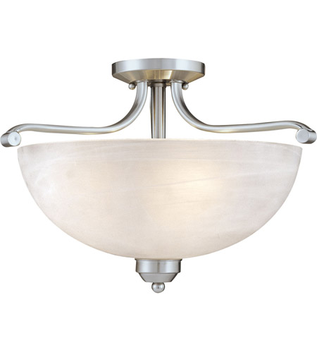 Minka-Lavery 1424-84 Paradox 3 Light 17 inch Brushed Nickel Semi Flush Mount Ceiling Light photo