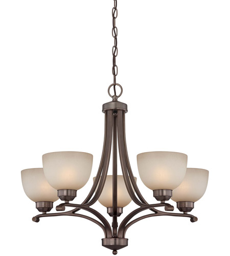 Minka-Lavery Paradox 5 Light Chandelier in Harvard Court Bronze 1425-281 photo
