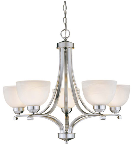 Minka-Lavery 1425-84-PL Paradox 5 Light 27 inch Brushed Nickel Chandelier Ceiling Light in GU24 photo