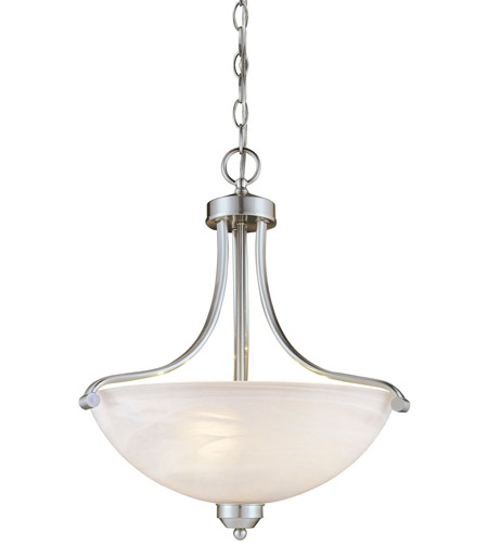 Minka-Lavery Paradox 3 Light Pendant in Brushed Nickel 1426-84 photo