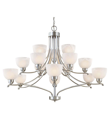 Minka-Lavery Paradox 15 Light Chandelier in Brushed Nickel 1428-84 photo