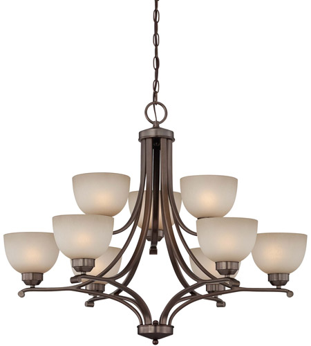 Minka-Lavery 1429-281 Paradox 9 Light 34 inch Harvard Court Bronze Plated Chandelier Ceiling Light photo