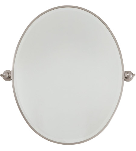 Minka-Lavery 1431-84 Signature 25 X 20 inch Brushed Nickel Mirror Home Decor, Oval, Beveled photo