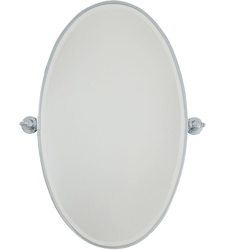 Minka-Lavery 1432-77 Signature 36 X 22 inch Chrome Mirror Home Decor, Oval, Beveled photo