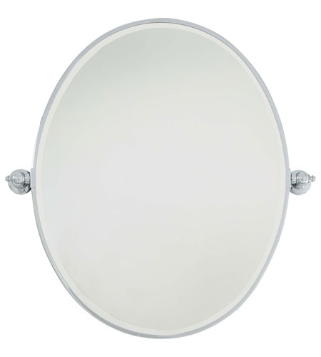 Minka-Lavery 1433-77 Signature 32 X 26 inch Chrome Mirror Home Decor, Oval, Beveled photo