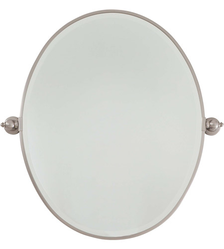 Minka-Lavery 1433-84 Signature 32 X 26 inch Brushed Nickel Mirror Home Decor, Oval, Beveled photo