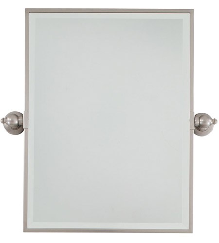 Minka-Lavery 1440-84 Signature 24 X 18 inch Brushed Nickel Mirror Home Decor, Rectangle, Beveled photo