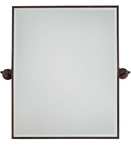 Minka-Lavery 1441-267 Signature 30 X 24 inch Dark Brushed Bronze Plated Mirror Home Decor, Rectangle, Beveled photo