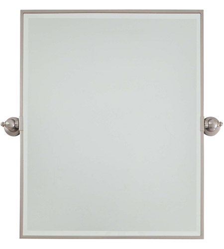 Minka-Lavery 1441-84 Signature 30 X 24 inch Brushed Nickel Mirror Home Decor, Rectangle, Beveled photo