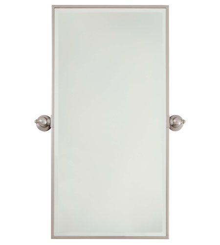 Minka-Lavery 1442-84 Signature 36 X 18 inch Brushed Nickel Wall Mirror Home Decor photo