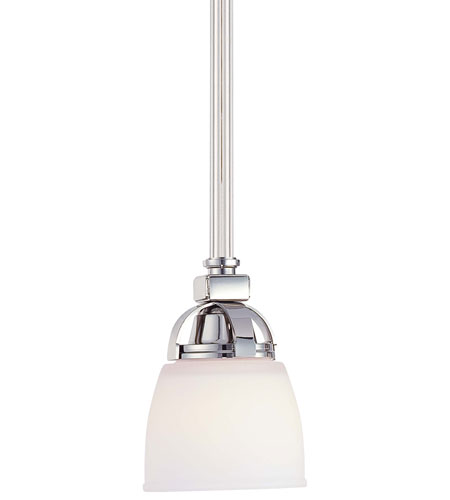 Minka-Lavery 1501-613 Brookview 1 Light 5 inch Polished Nickel Pendant Ceiling Light photo