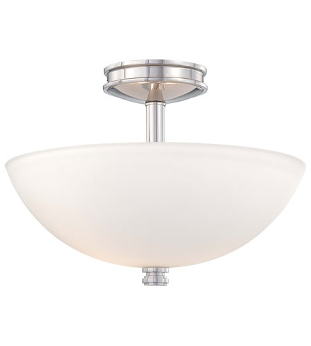 Minka-Lavery 1502-613 Brookview 2 Light 16 inch Polished Nickel Semi-flush Ceiling Light photo