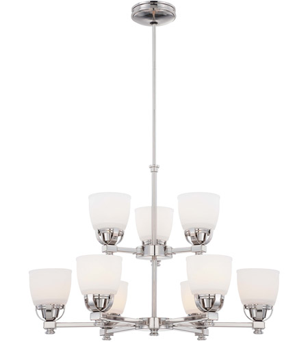 Minka-Lavery Brookview 9 Light Chandelier in Polished Nickel 1509-613 photo