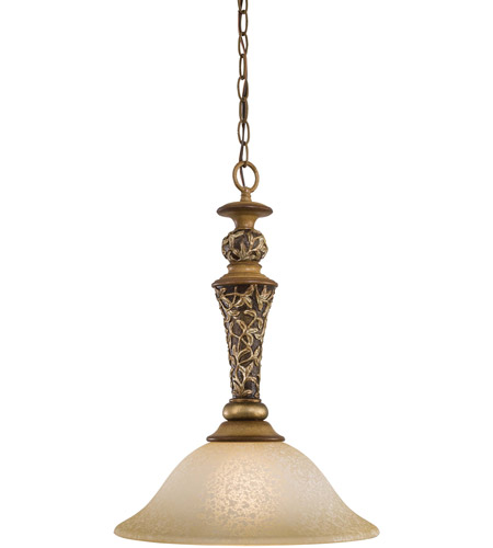 Minka-Lavery Jessica McClintock Home Salon Grand 1 Light Pendant in Florence Patina 1551-477 photo