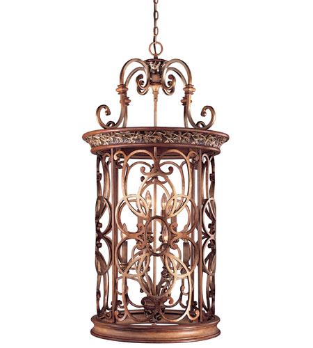 Minka Lavery Jessica Mcclintock Home Salon Grand 8 Light Foyer Pendant In Florence Patina 1564 477