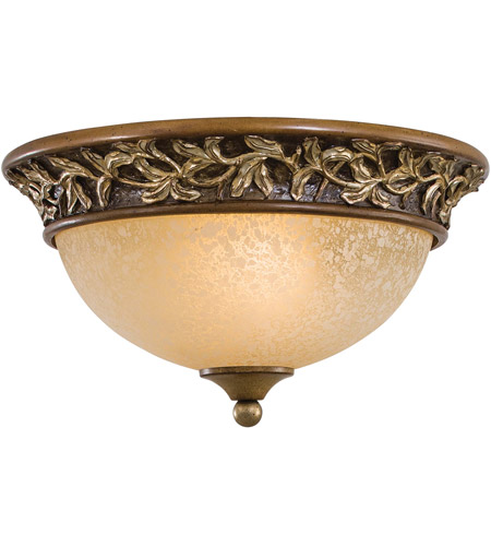 Minka-Lavery Jessica McClintock Home Salon Grand 2 Light Flushmount in Florence Patina 1569-477 photo