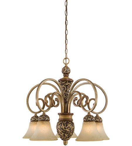 Minka-Lavery Jessica McClintock Home Salon Grand 5 Light Chandelier in Florence Patina 1575-477 photo