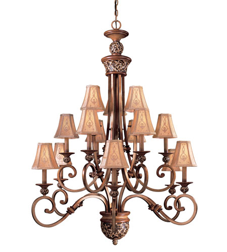 Minka Lavery Jessica Mcclintock Home Salon Grand 15 Light Chandelier In Florence Patina 1579 477