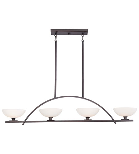 Minka-Lavery 1584-167 Galante 4 Light 43 inch Lathan Bronze Island Light Ceiling Light photo
