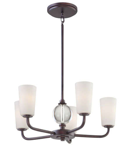 Minka-Lavery Modern Continental 5 Light Chandelier in Kinston Bronze 1615-298 photo