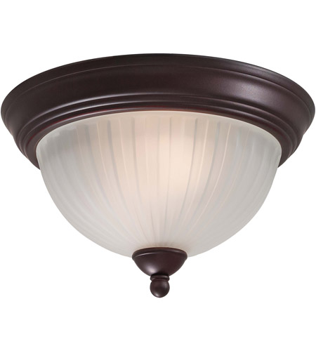 Minka-Lavery 1730-167 1730 Series 2 Light 13 inch Lathan Bronze Flush Mount Ceiling Light photo
