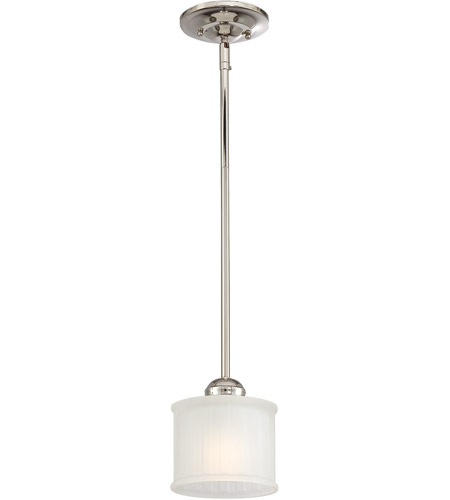 Minka-Lavery 1730 Series 1 Light Mini Pendant in Polished Nickel 1731-613 photo
