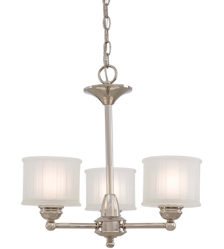 Minka-Lavery 1733-613 1730 Series 3 Light 19 inch Polished Nickel Mini Chandelier Ceiling Light photo