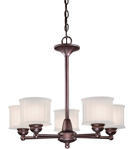 Minka-Lavery 1735-167 1730 Series 5 Light 24 inch Lathan Bronze Chandelier Ceiling Light photo