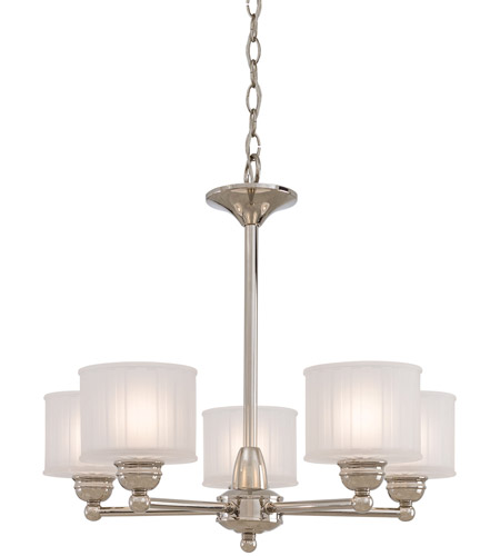 Minka-Lavery 1735-613 1730 Series 5 Light 24 inch Polished Nickel Chandelier Ceiling Light photo