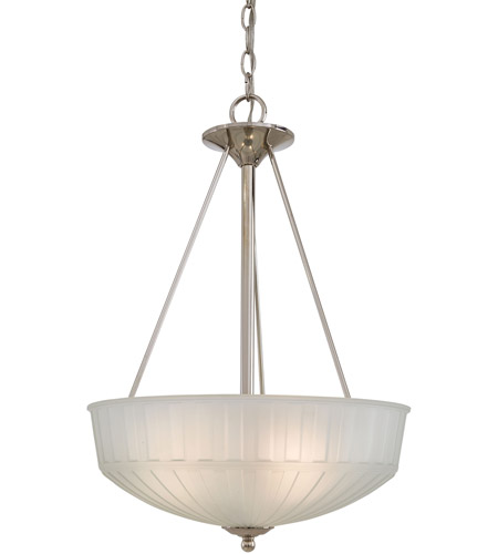 Minka-Lavery 1737-1-613 1730 Series 3 Light 17 inch Polished Nickel Pendant Ceiling Light photo