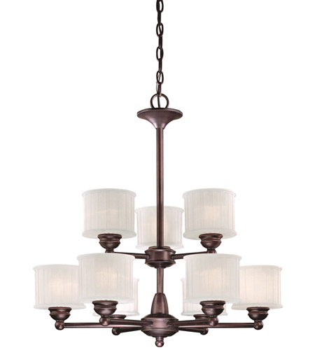 Minka-Lavery 1739-167 1730 Series 9 Light 27 inch Lathan Bronze Chandelier Ceiling Light photo