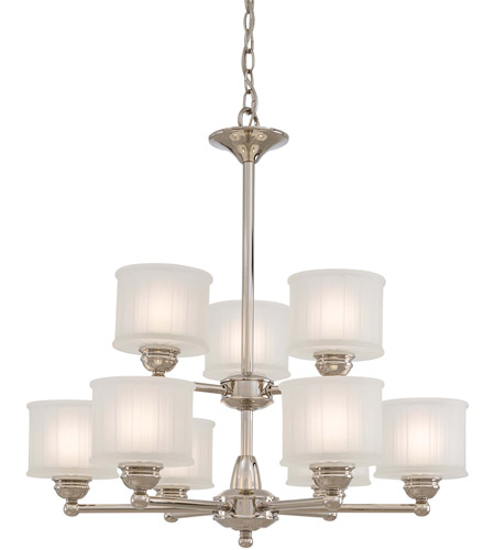 Minka-Lavery 1730 Series 9 Light Chandelier in Polished Nickel 1739-613 photo
