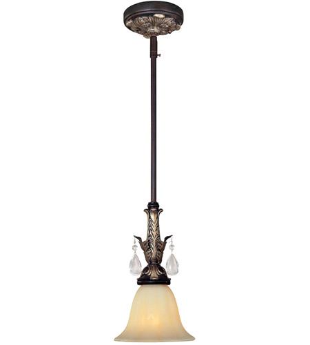 Minka-Lavery Bellasera 1 Light Mini Pendant in Castlewood Walnut w/Silver Highlights 179-301 photo