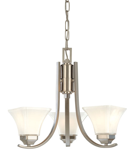 Minka-Lavery 1813-84 Agilis 3 Light 20 inch Brushed Nickel Chandelier Ceiling Light photo