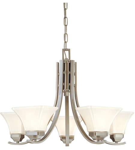 Minka-Lavery 1815-84 Agilis 5 Light 27 inch Brushed Nickel Chandelier Ceiling Light photo