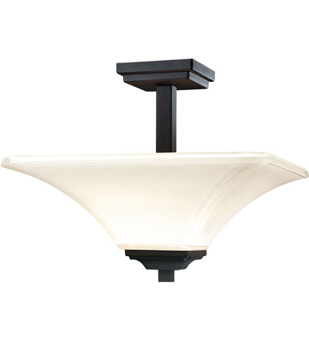 Minka-Lavery 1816-66 Agilis 2 Light 16 inch Black Semi Flush Mount Ceiling Light photo