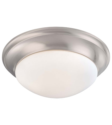 Minka-Lavery 1820-3-84 Signature 3 Light 17 inch Brushed Nickel Flushmount Ceiling Light photo