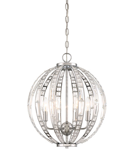 Minka Lavery 2376 77 Palermo 6 Light 16 Inch Chrome Pendant Ceiling Photo