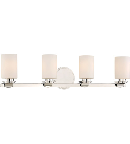 Minka Lavery 3024 613 Arrondir 4 Light 34 Inch Polished Nickel Bath Light  Wall