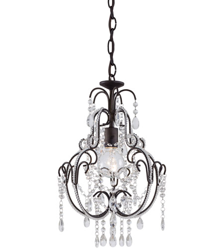 Minka-Lavery 3123-489 Signature 1 Light 13 inch Taylor Bronze Mini Chandelier Ceiling Light photo