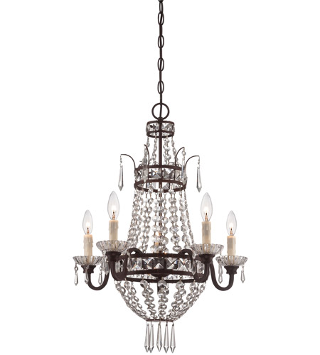 Minka-Lavery 3136-167B Signature 5 Light 20 inch Deep Lathan Bronze Mini Chandelier Ceiling Light photo