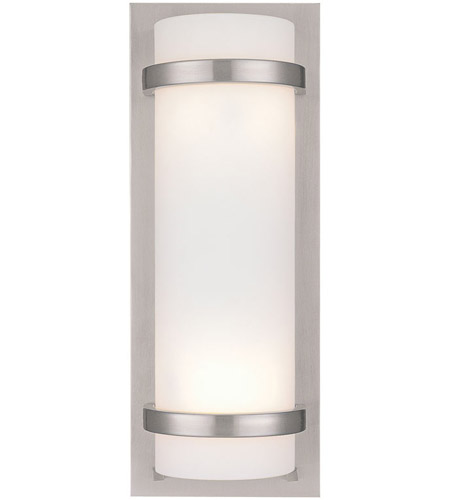 Minka-Lavery 341-84 Signature 2 Light 7 inch Brushed Nickel ADA Wall Sconce Wall Light photo